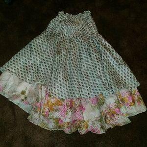 Silk boho tunic  / skirt reversible sz Medium